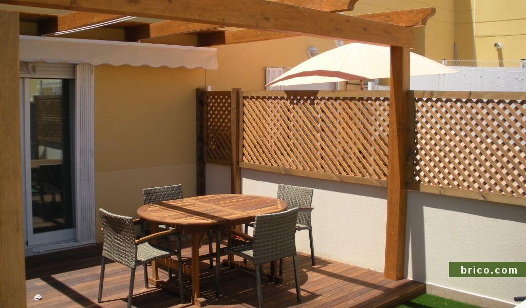Celosia de madera para exterior