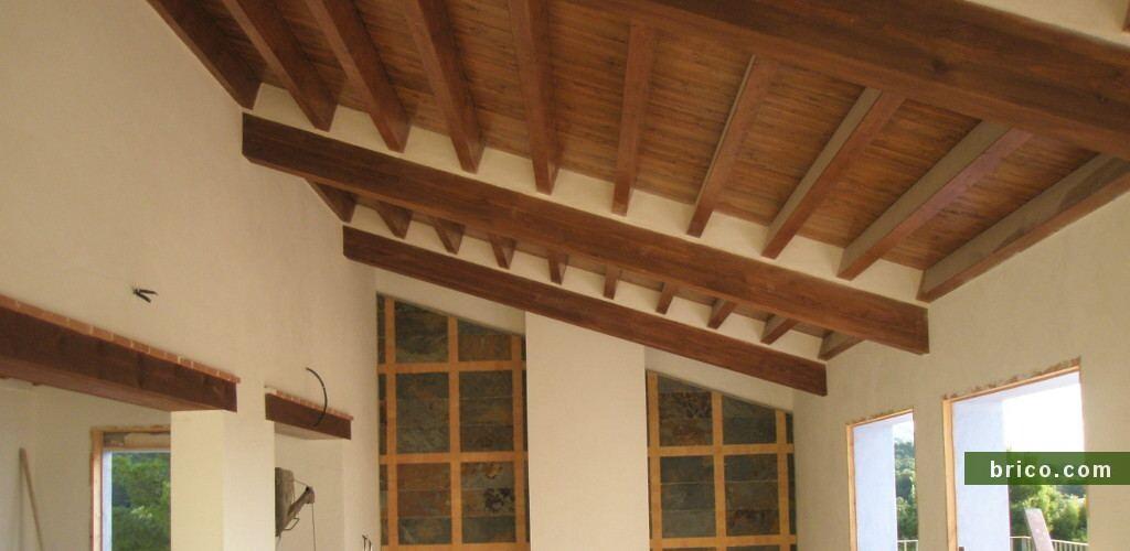 Cubierta de madera en obra nueva