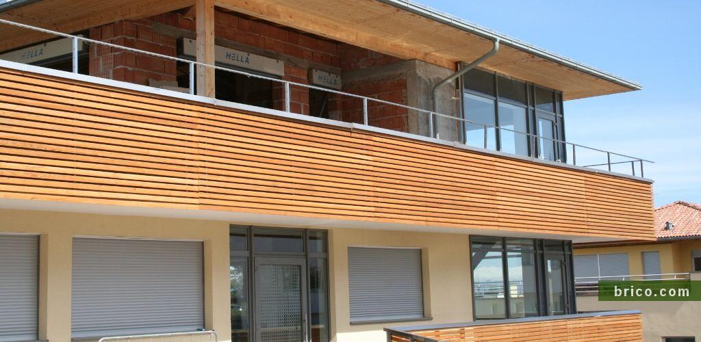 Listones de abeto para revestimiento de fachadas