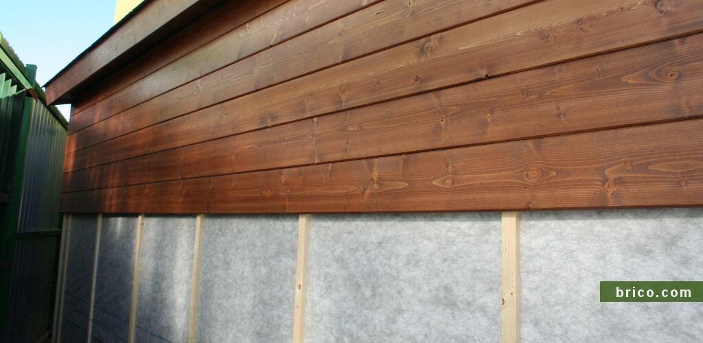 Listones de abeto para fachada ventilada