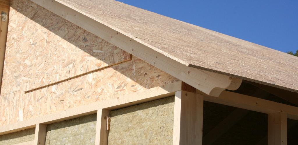 Estructura casa de madera con OSB