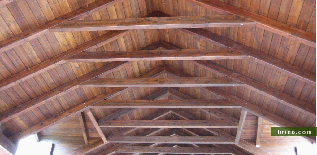 Cubierta de madera en obra nueva dos aguas