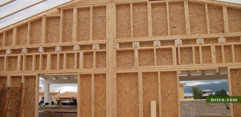 Listones abeto para la estructura de casa de madera
