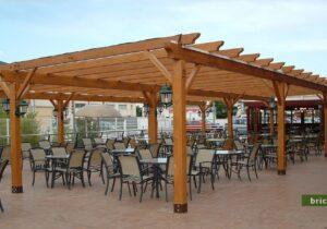 pergolas de madera sin techo restaurante