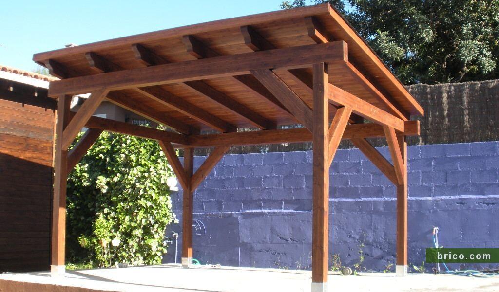Pergola de madera independiente