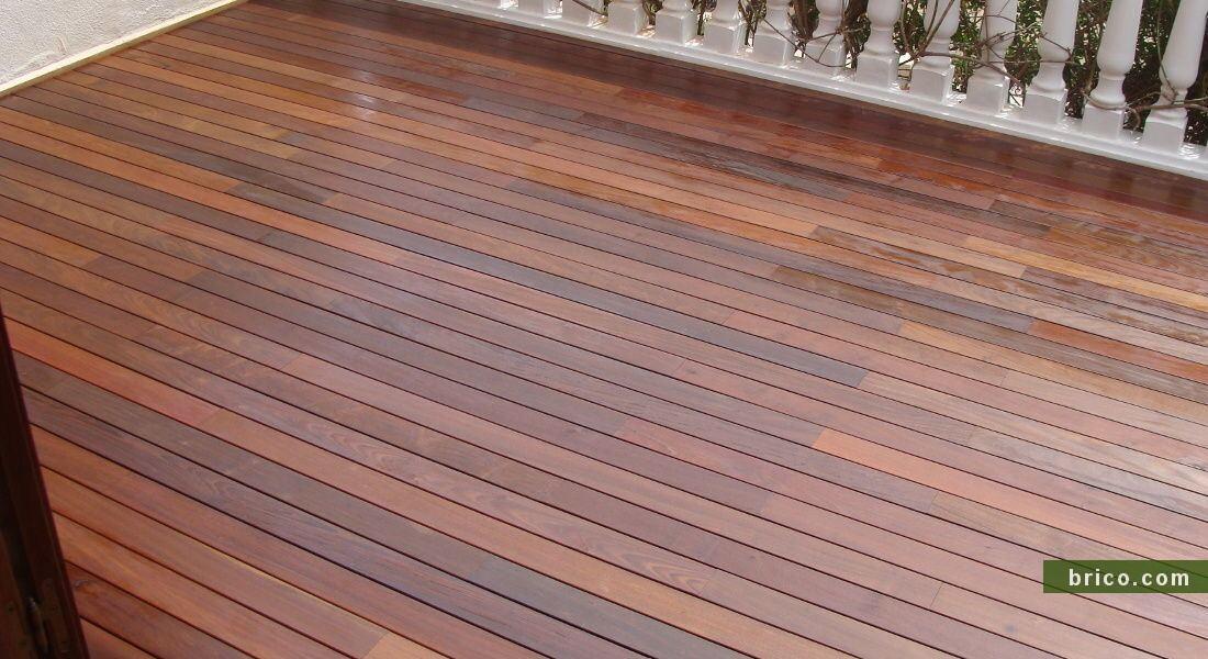 Tarima de ipe en terraza