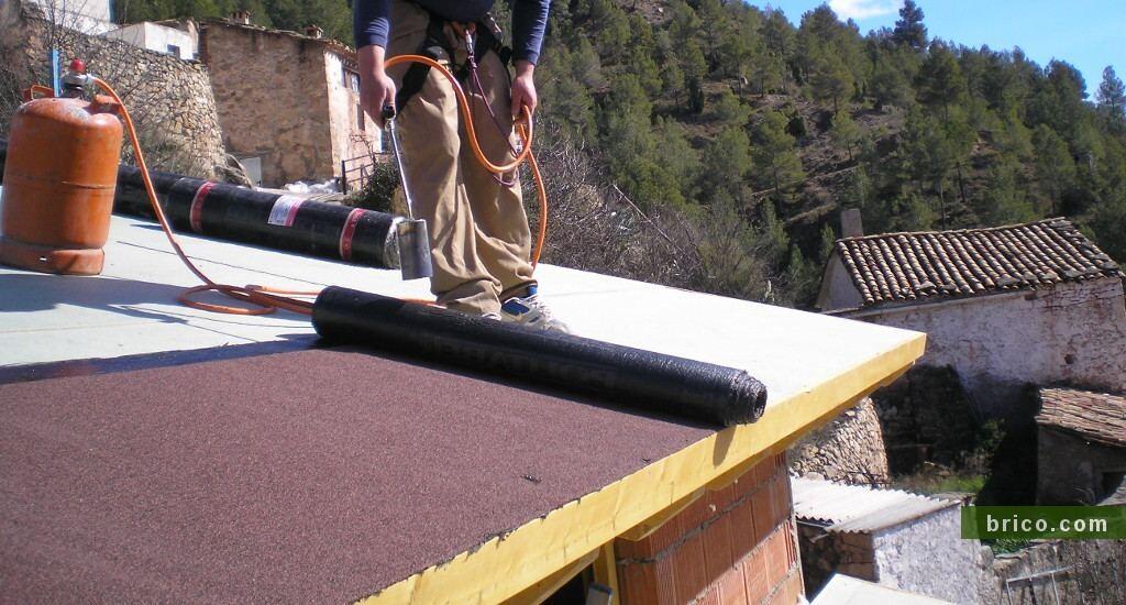 Tela asfaltica aplicacion calor