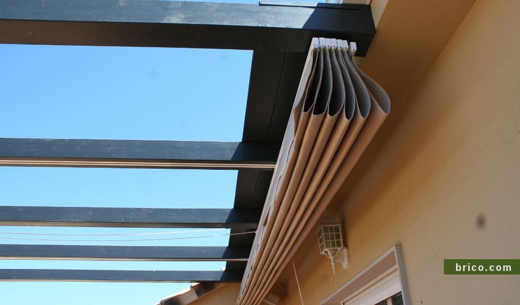 Detalle techo para guardar toldo