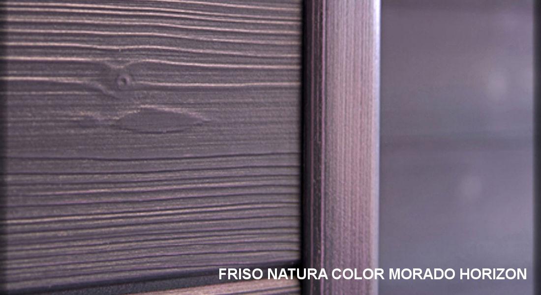Detalle friso madera Morado Horizon
