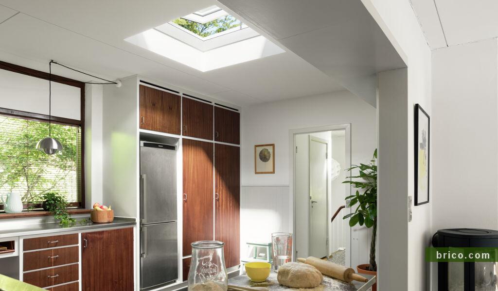 Ventana Velux para cubierta plana en cocina