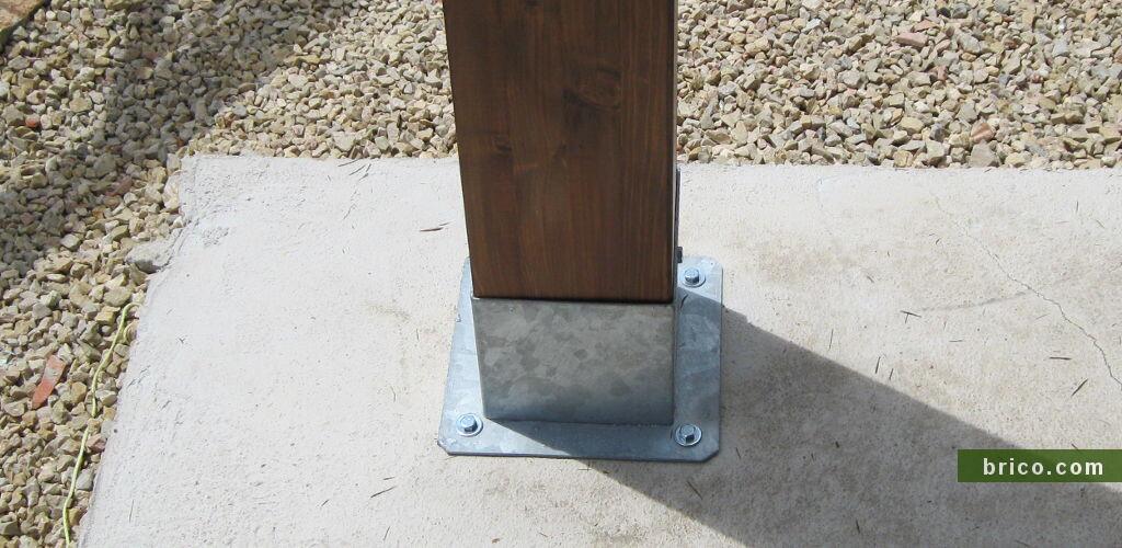 Base cubo para pilar de madera