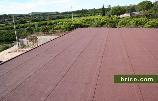 tela asfaltica autoadhesiva roja