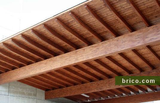 cubierta de madera bricomarkt